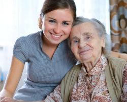 grandma and her caregiver